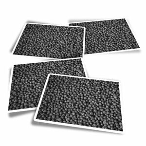 4x Rectangle Stickers - BW - berries Healthy Fruit  #39719