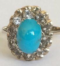 14K Vintage Turquoise Gold Ring Size 6.5