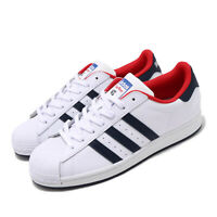 adidas Originals Superstar White Navy Red Mens Casual Shoes Sneakers FV8270