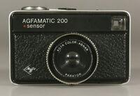 PRL) AGFA AGFAMATIC 200 SENSOR FOTOCAMERA COMPATTA COLOR AGNAR PARATOR LENS