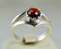 Garnet Silver Ring 925 Solid Sterling Silver Handmade Jewelry Size 3 - 13 US