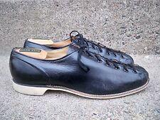 Vintage Champion Shoe Co Black Leather Bowling 7 Eye Steampunk Shoes Size 9 Wide