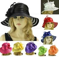 Melbourne Cup Race Carnival Wedding Church Funeral Evening SATIN Derby Day Hat