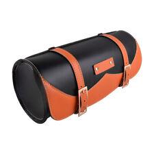 Universal Leather Motorcycle Tool Bag Fork Handlebar Saddlebag Roll Barrel Pouch