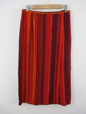 BHS maxi skirt size 16 Petite.Wrap skirt.Stripes.Burnt orange reds etc.Bright.