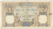 GB615 - Banknote Frankreich 1000 Francs 1930 Pick79 RAR France