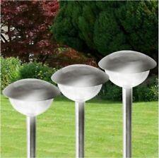 3er-Set Edelstahl Solarlampen Gartenleuchte Solarleuchte Beleuchtung Deko Licht