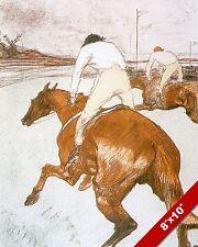 HORSE JOCKEY RACE RACING ART PENCIL SKETCH PAINTING REAL CANVAS PRINT