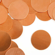 "Circle, Copper, Metal Stamping Blanks, 1 1/2"", 24 pc- Jewelry Making Discs"