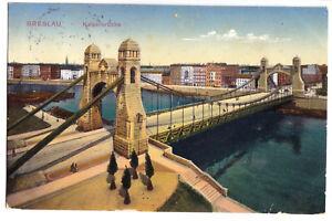 AK, Breslau, Wroclaw, Kaiserbrücke, 1914