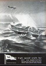 1941 'WALTON' Wartime High-Speed Motor Launch Ad #6 - WW2 Naval Print Advert