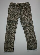 New NEXT UK Cheetah Leopard Print Jeans Pants size 4T 5T 110cm NWT Stretch