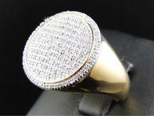 14K Yellow Gold Over 2.00 Ct Diamond Men's Engagement Wedding Pinky Ring Band