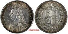 Great Britain Victoria (1837-1901) Silver 1887 1/2 Crown ch.XF/AU Toned KM# 764
