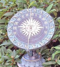 Bronzeskulptur Sonnenuhr Dekoration für Haus und Garten *