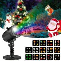 Xmas Christmas Decorations Projector Lights Outdoor Moving Rotating Projector