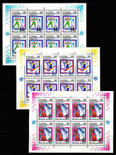 Echte Briefmarken aus Russland & Sowjetunion mit Motiven von den Olympischen Spielen als Satz