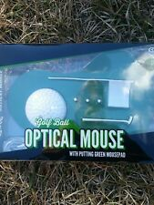 NEW Optical Computer Mouse Golf ball w/putting green and mouse pad