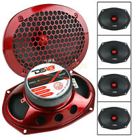 "4 Pack DS18 6x9"" Midrange Loudspeakers 550 Watts Max 8 Ohm Car Audio PRO-X698BM"