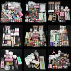 48 Colors Acrylic Powder Liquid Nail Art Kit Glitter UV Gel Glue Tips Brush Kits