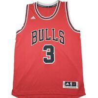 NBA JERSEY CHICAGO BULLS DWAYNE WADE ADIDAS Swingman SZ L RARE HEAT