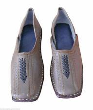 Men Shoes Jutties Indian Leather Handmade Mojari Flip-Flops Boat Shoes Us 9