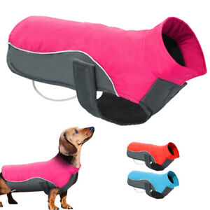 Waterproof Small to Large Dogs Winter Clothes Reflective Warm Fleece Jacket Coat