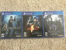 Resident Evil - 4, 5, and 6 - PS4 - Brand New! - Lot of 3