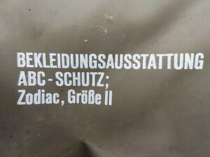 Bundeswehr ABC Schutzanzug Zodiak Zodiac Gummi jacke Gummi hose