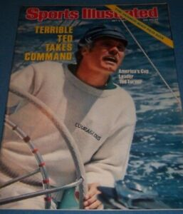 1977 Sports Illustrated AMERICAS Cup TED TURNER No Label CNN Captain COURAGEOUS