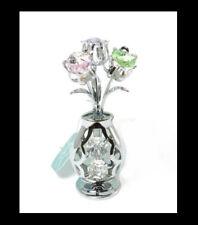 Tulip Vase Crystocraft Swarovski Strass Crystal Ornament Keepsake Christmas Gift