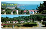 1960s Mar Vista Motel, Anchor Bay, Gualala, CA Postcard *5N18