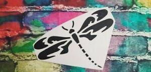 DRAGONFLY vinyl decal sticker 20cm x 20cm beautiful dragon fly angel decal