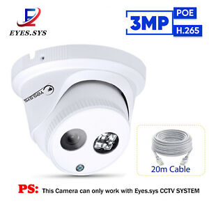 HD 3.0MP Waterproof Array LED IP POE DOME Camera For Eyes.sys CCTV NVR System