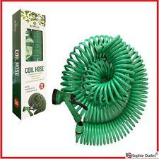 30M Retractable COIL HOSE Garden Lawn Reel Pipe Water Spray Gun Nozzle G3588 UK