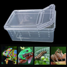 For Lizard Spider Gecko Insect Reptile Terrarium Cage Feeding Box Living House