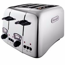 DeLonghi  DE-CTO4.C Argento 4 Slice Toaster Stainless Steel Stylish BRAND NEW