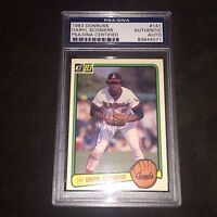 Daryl Sconiers California Angels Signed Autograph 1983 Donruss PSA/DNA Slabbed