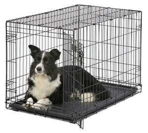 Xxl Dog Crate Chain Link Dog Kennel Outdoor Pet Big Dog Cage Extra Large Metal