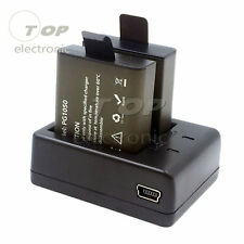 PG1050 Dual Battery and Charger for Eken V8s H8 H9 H8R H9R Sport Action Camera