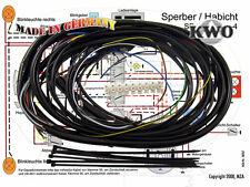 Simson Kabelbaumset SR4-3 SR4-4, inkl. Schaltplan 6V KWO MOPED Sperber Habicht