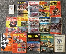 1960-1962 Go Kart memorabilia ~ 15 mags, booklets ~ KART, Karting Sport, + more