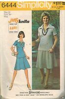 6444 Vintage Simplicity Sewing Pattern Misses Jiffy Knit Two Piece Dress OOP SEW