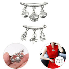 Breastpin for Sweater Hat Scarf 1Pc Womens Shell/Octopus Pin Brooch Crystal