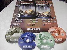 ORIGINALE C & C COMMAND & CONQUER GENERALS Deluxe PC-CD (+ Zero Hour Espansione)
