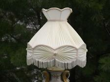 "Diane Handmade Victorian Pink White Pleated 20""x18"" Lampshade Lamp Shade EXC"