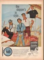 1959 Reliance PRINT AD Men Boy's Paddle & Saddle Nautical Knits Sail Boat Theme