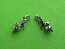 20x 3D Strappy Sandal High Heel Shoe Tibetan Silver Charm Pendant