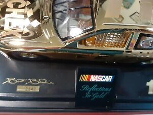 nascar diecast 24 kt gold RACING CHAMPIONS REFLECTIONS IN GOLD 1OF4999 autograph