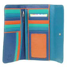 Mywalit Purse Tri Fold Aqua Blue Zip Leather Ladies Wallet & Pen 269 2